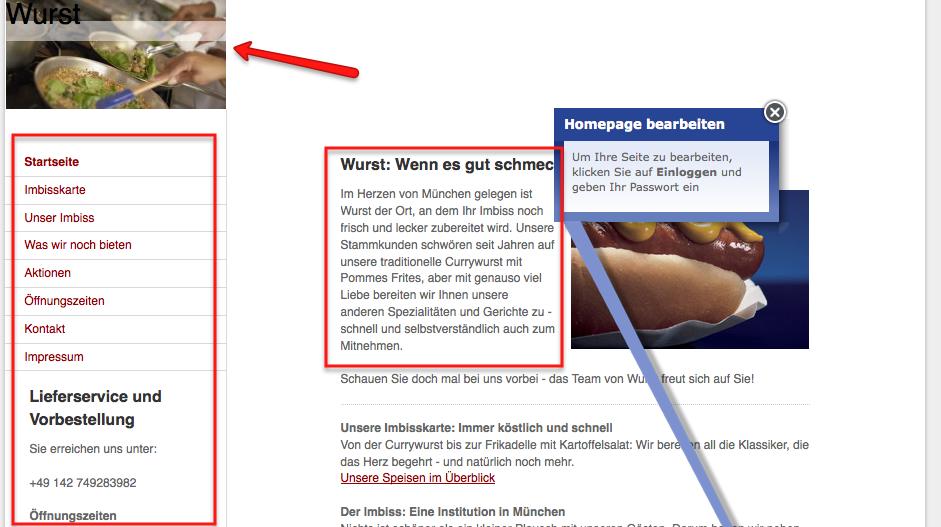Do it yourself Homepage Beispiel