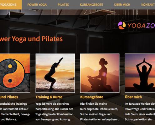 Jimdo Beispiel Yoga