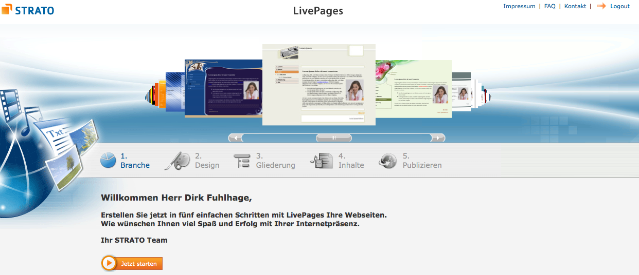 Strato-Livepages-Bearbeitung