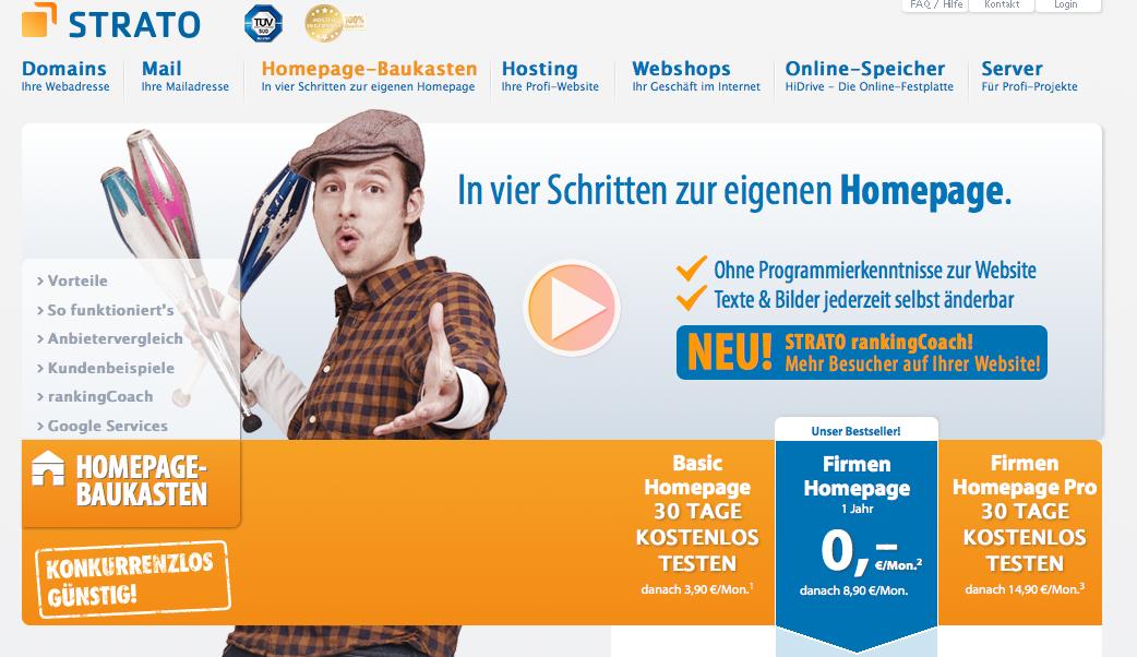Strato Homepage Baukasten Test 2018 Vor Und Nachteile Auf Einen Blick