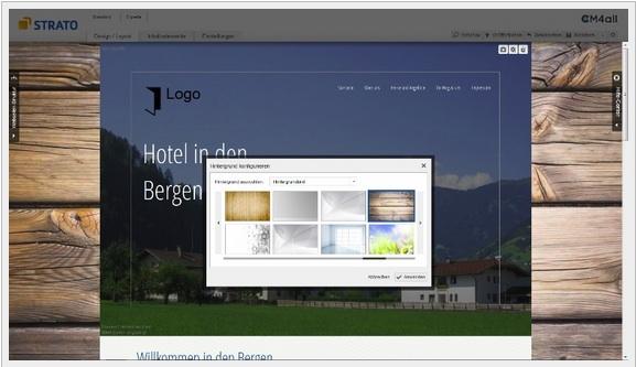 Strato neuer Homepage Baukasten 1