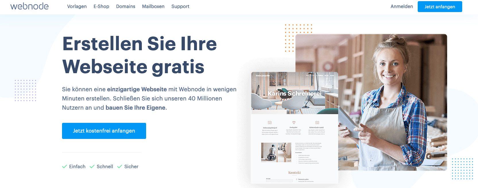 Webnode Startseite