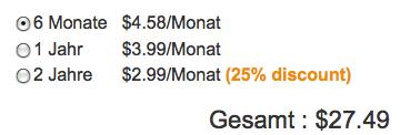 Weebly Preise im Vergleich