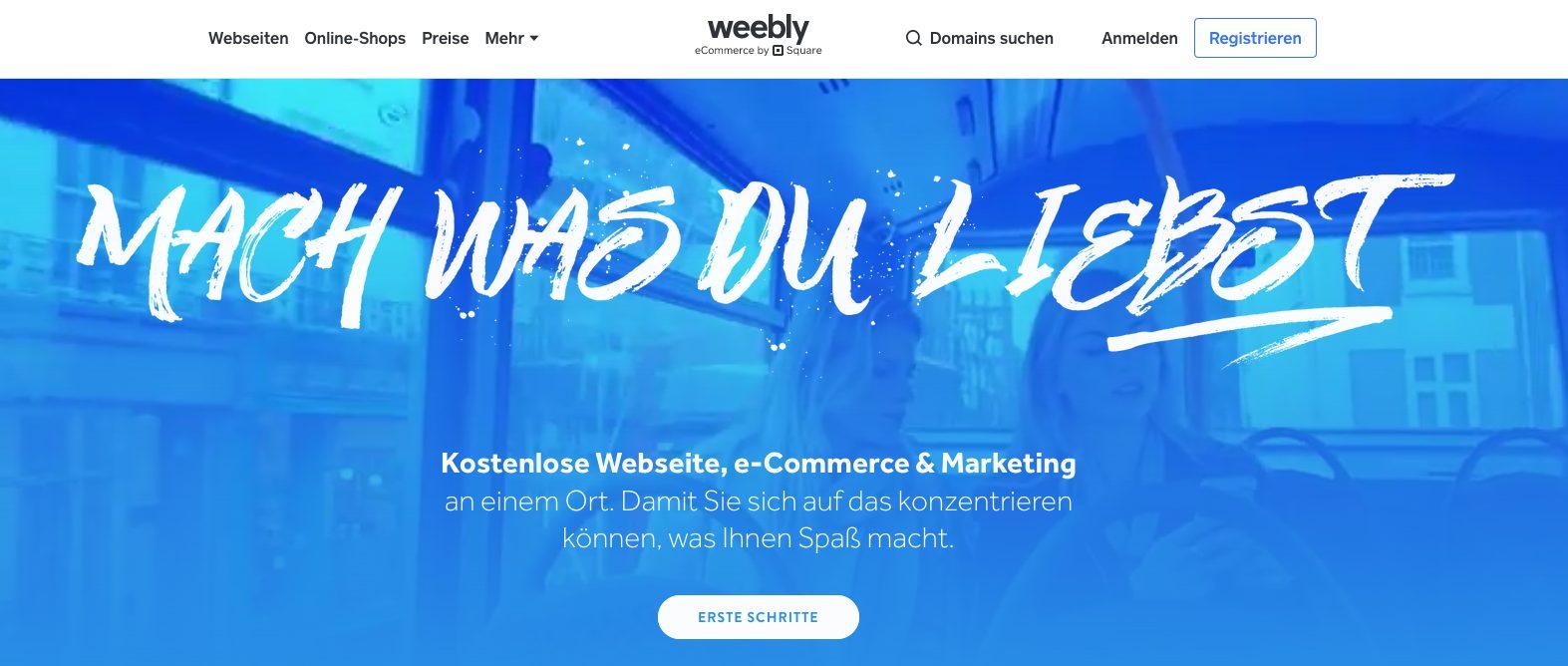 Weebly Startseite