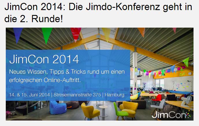 Jimdo Konferenz - JimCon 2014