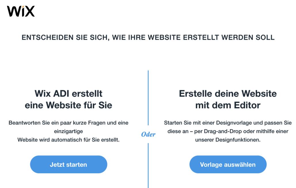 wix editor oder adi